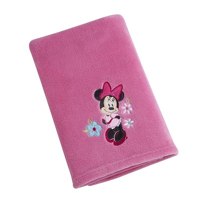 Disney Baby Minnie Mouse Solid Coral Applique Blanket