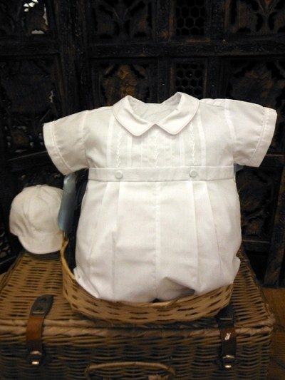 Will'beth Romper Set Boy-White