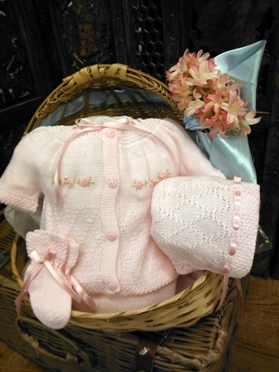 Will'beth Knit Take Me Home SetPreemie, Pink