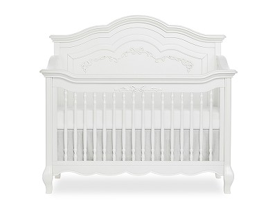 Evolur Aurora Convertible Crib 5-in-1 Curved, Frost White