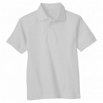 Universal School Uniform 50% Off Only $4.99 Short Sleeve Boy Polo  White