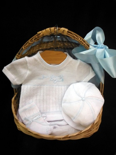 Will'beth Airplane Knit Set 4-Pieces White-Blue