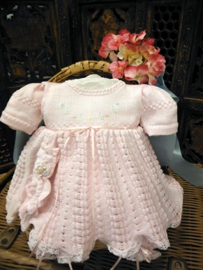 Will'beth Knit Dress Set Pink Preemie