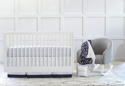 Just Born® Dream Collection 3 Pieces Crib Set, Navy-Gray