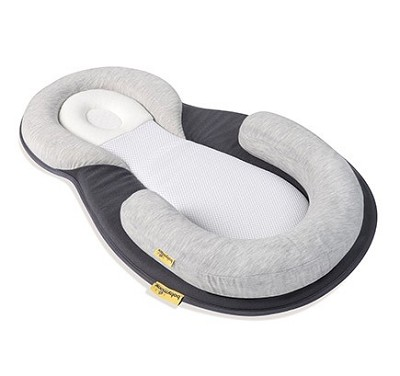 BabyMoov Cozy Dream Premium Newborn Lounger Smokey