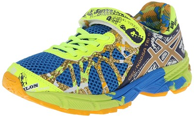 Asics 60% Off Gel Noosa 9 PS Gold Ribbon Running Shoe , Kids  - Royal/Gold/Gold Ribbon
