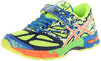 Asics 60% Off Noosa Tri 10 TS Running Shoes , Kids  - Flash Yellow/Flash Orange/Blue
