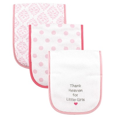 Luvable Friends Baby Burp Cloths, Thank Heaven For Little Girls