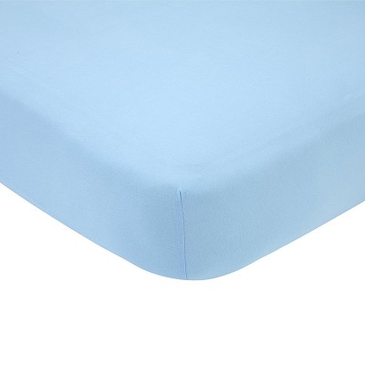 Carter's Cotton Knit Crib Sheet, Solid Blue
