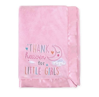 Baby Essentials Thanks Heaven For Little Girl Blanket Pink