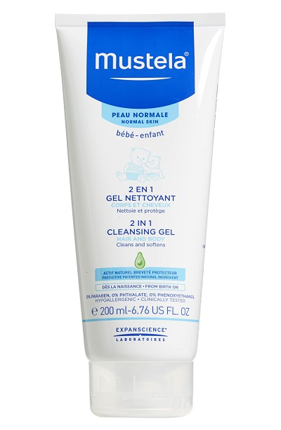 Mustela 2 in 1 Cleansing Gel 6.76fl Ounce