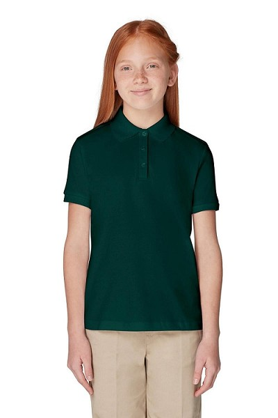 French Toast 50% Off School Uniform Interlock Polo, Girl-Hunter Green