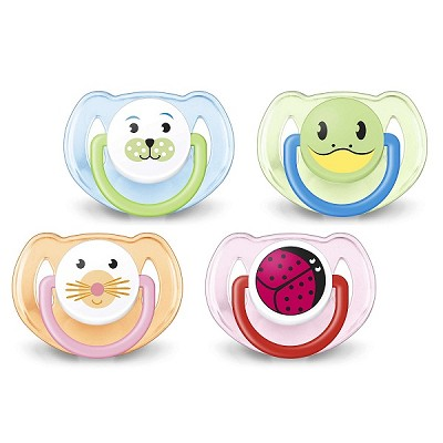 Avent Orthodontic Pacifier 6-18m, Animal Design  2 Pack