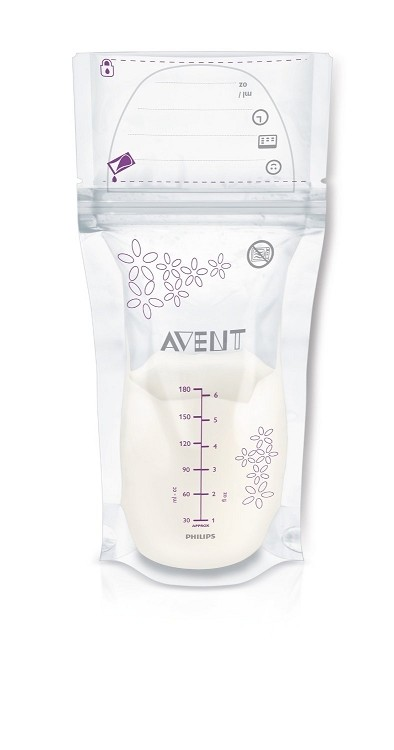 Avent 6 oz Breast Milk Storage Bags, 25 Count