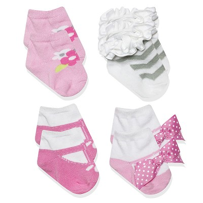 Baby Essentials Princess Socks Gift Box 4-Pieces Girl
