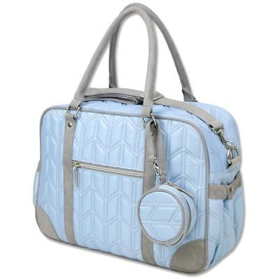 A.D.Sutton Quilted Diaper Bag Blue-Gray
