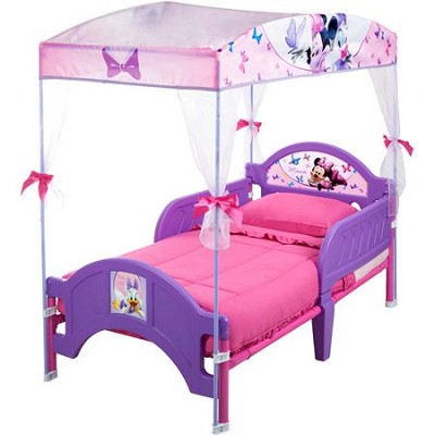 Delta Children Disney Minnie  Plastic Toddler Bed  with Canopy