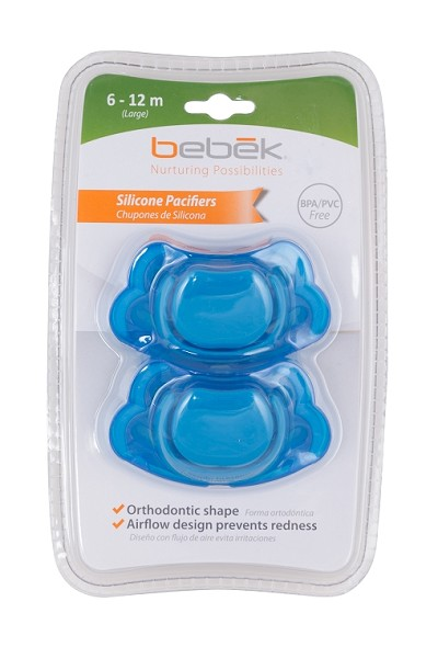 Bebek Baby Blueberry Silicone Pacifier 2-Pack 6-12 Months
