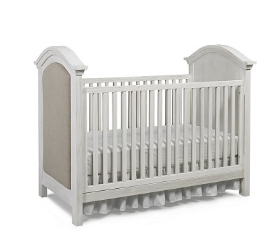 Dolce Babi Lucca Upholstered Traditional Crib, Sea Shell White