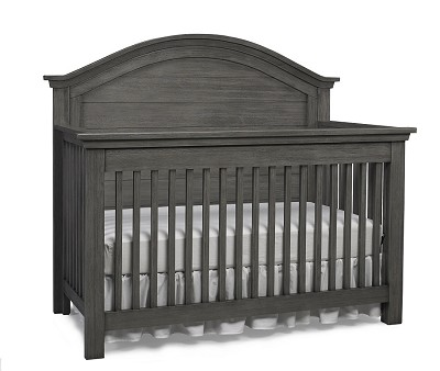 Dolce Babi Lucca Full Panel Convertible Crib, Weathered Grey