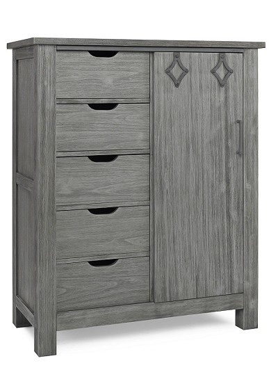 Dolce Babi Lucca Chifforobe, Weathered Grey