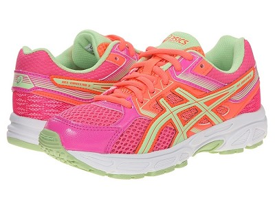 Asics 60% Off Running Kids Gel Contend 3 GS Hot Pink/Pistachio
