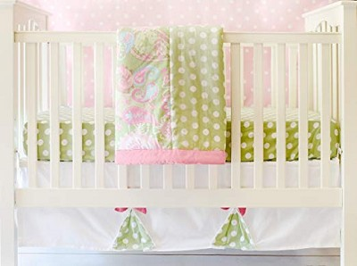 My Baby Sam Pixie Baby 3 Pieces Crib Set-Pink
