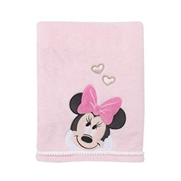 Disney Baby Minnie Mouse Love to Love Coral Fleece Blanket