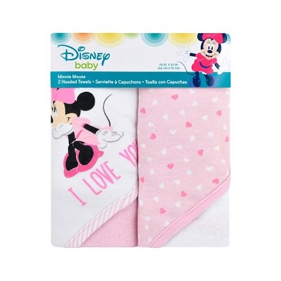 Cudle Time Disney Minnie Mouse  Hooded Towel  2-Pack
