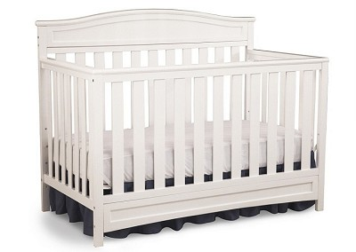 Delta Children Emery Crib 4 in1 Convertible, White
