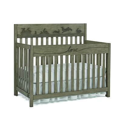 ED Ellen Degeneres Forest Animal Convertible Crib Natural Grey