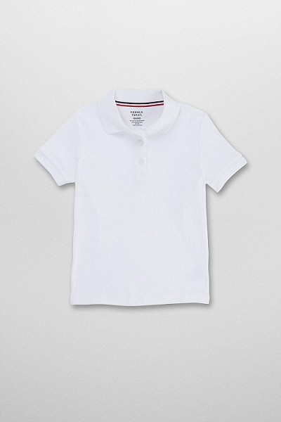 French Toast 50% Off Only $4.99 Interlock Knit Polo, White