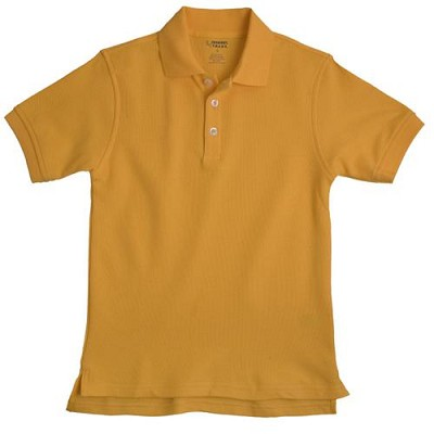 French Toast 60% Off Only $4.00 Pique Polo, Gold Size Large