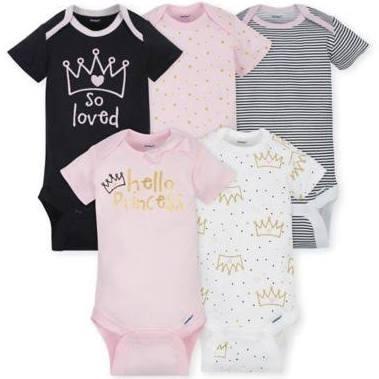 f42e414bf Gerber 5 Pack Onesies® Girl Princess 3-6 Months