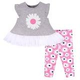 Gerber Flower 2 Pieces Legging Set, Girl, 24 Months
