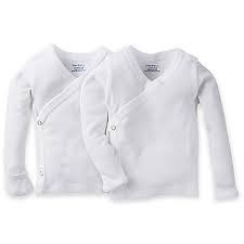 Gerber Snap Side Shirt - 0-3 Months - 2 Pack