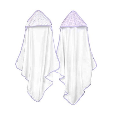 Just Born® Stars and Stripes 2 Pack Hooded Towel Navy-White