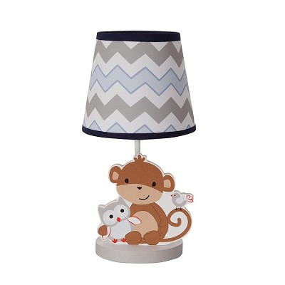 Bedtime Originals Mod Monkey Lamp with Shade & Bulb