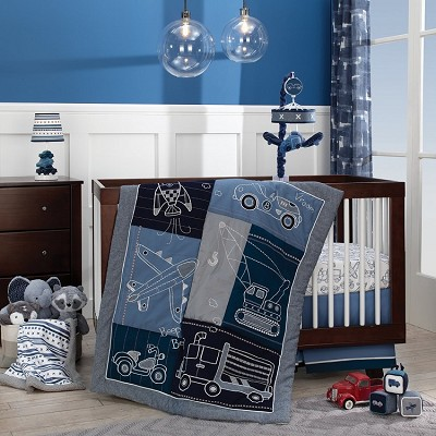 Lambs & Ivy Metropolis Bedding Crib Set 4-Pieces