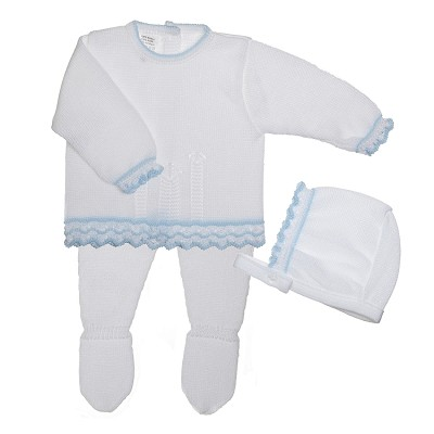 Lili Import Lolin Knitted Take Me Home Boy Set 3-Pieces Newborn