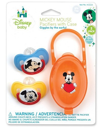 Disney Baby 2-Pack Pacifier with Case 0-Months