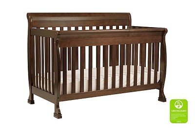 DaVinci Kalani 4-in-1 Convertible Crib with Toddler Bed Conversion Kit in Espresso