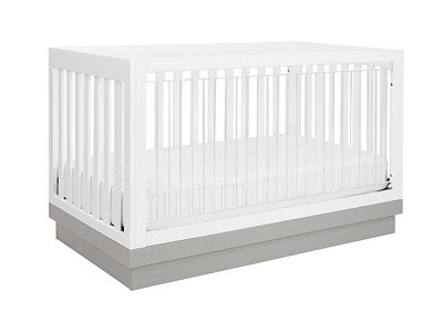 Babyletto Harlow 3 in 1 Convertible Crib with Toddler Conversion Kit (Acrylic)