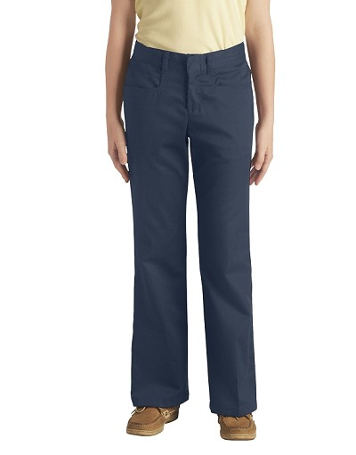 Dickie 50% Off School Uniform Fit Boot Pant Girl, Navy