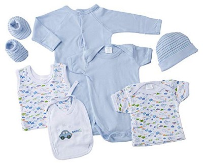 Baby Time Big Oshi 7 Pieces Layette Gift Set Blue