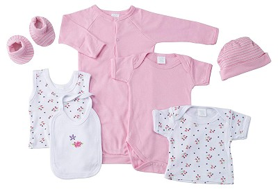 Baby Time Big Oshi 7 Pieces Layette Gift Set Pink