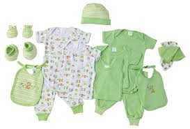 Baby Time Big Oshi 15 Pieces Layette Gift Set Green