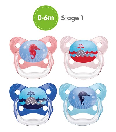 Dr. Brown's PreVent  Butterfly Orthodontic Pacifiers,Stage 1  0-6m - 2 Pack
