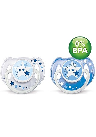 Philips AVENT Orthodontic Nightime Pacifier 6-18m BPA Free