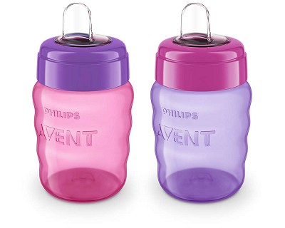 Phillips Avent My Easy Sippy 9oz, 2 Pack Girl